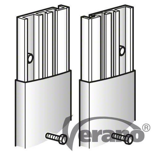 Muurstrippen Aluminium Set 2 Stuks