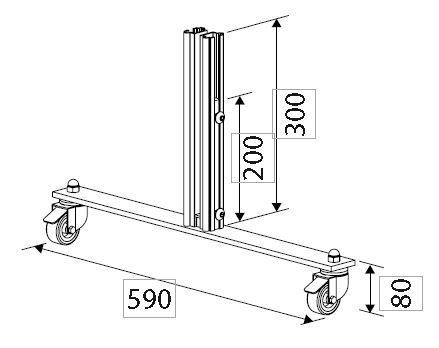 Voetplaat Basis verrijdbaar V730-Biaritz windscherm